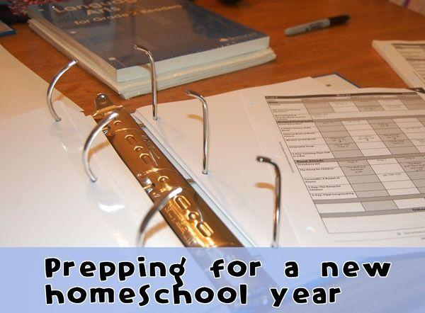preparing for a new homeschool year