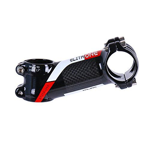 ELITA ONE Nueva de fibra de carbono bicicleta tallo, montaña bicicleta manillar carretera bicicleta tallo, de fibra de carbono Stem ø31.8 mm * 80/90/100/110 mm 17 ° Stem 3 K brillante, rojo verde azul (17° 3K Red, 110) #ELITA #Nueva #fibra #carbono #bicicleta #tallo, #montaña #manillar #carretera #Stem #brillante, #rojo #verde #azul #Red,