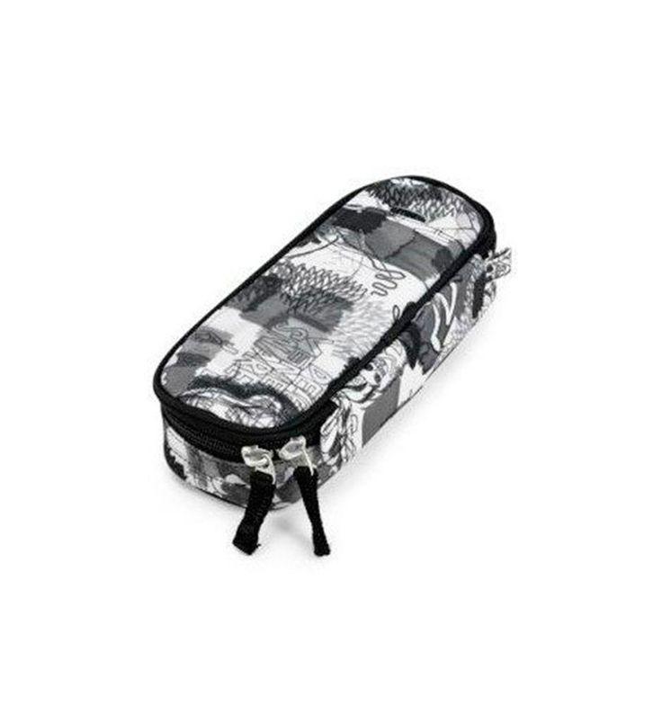 Jeva box penalhus i sort og hvide farver - 351-04