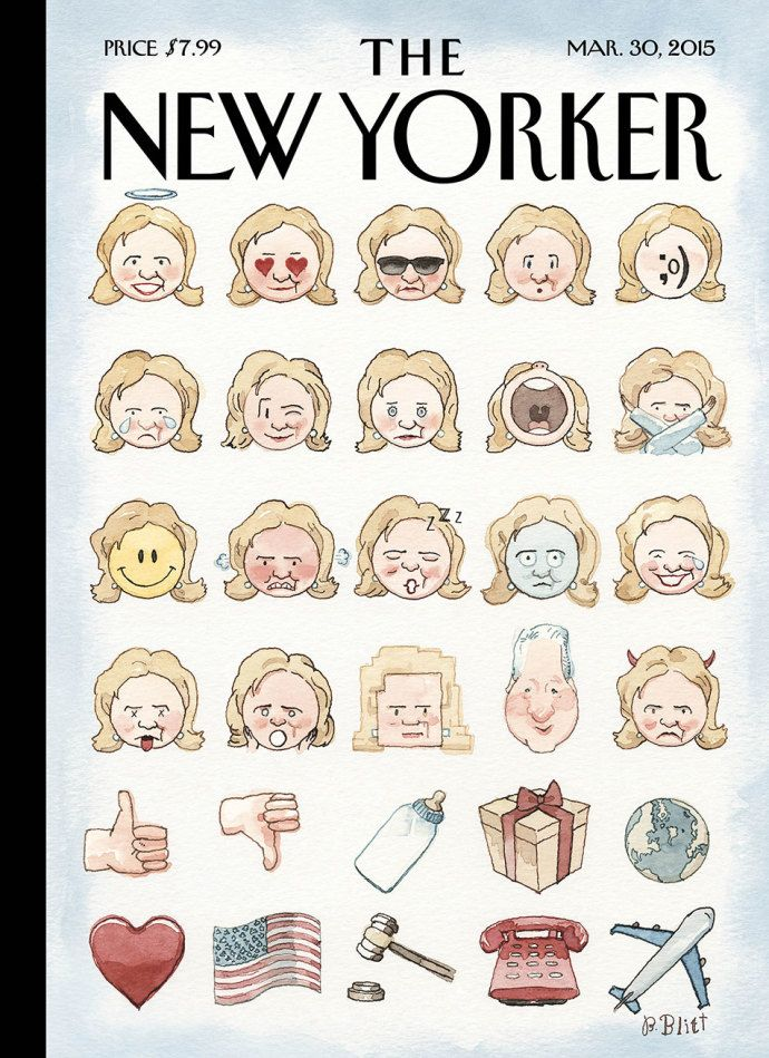 "Cover Story: Barry Blitt's ""Clinton's Emoji"" - The New Yorker"