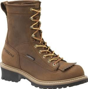 Carolina Mens Lace to Toe Safety Loggers - Copper Copper Man-Made Boot