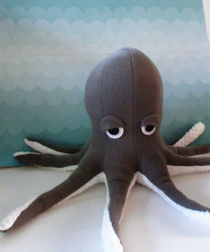 Octopus plushie, octopus softie, stuffed octopus, aquatic gift, nautical toy, gray octopus, gift for child, sea animal plushie, sea animal