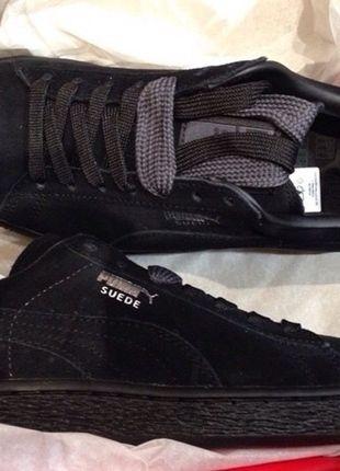 A vendre sur #vintedfrance ! http://www.vinted.fr/chaussures-femmes/baskets/17326728-basket-puma-suede-toute-noir