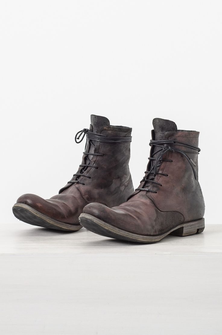 Layer 0 Black & Blood Lace Up Cordovan Boot