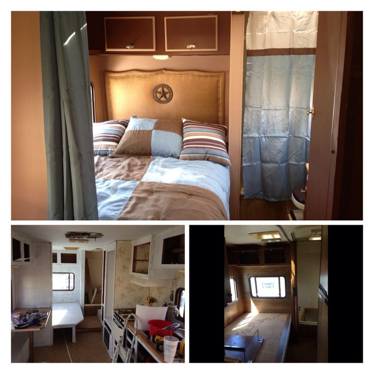 Diy travel trailer bedroom makeover our diy projects that we have done pinterest diy - Trailer bedroom ideas ...