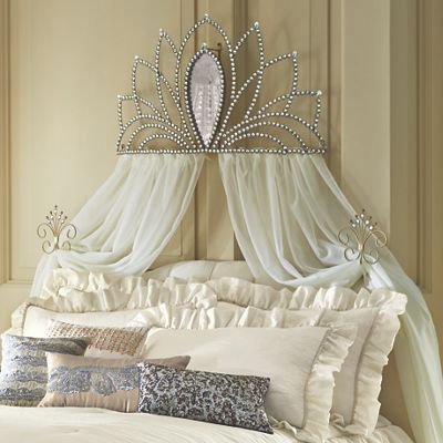 Best Bed Crown With Tie Backs From Midnight Velvet A Shapely 400 x 300