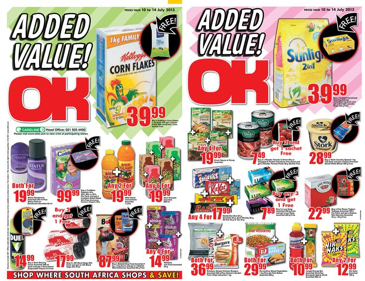 OK Grocer Danabaai's amazingly low prices valid until 14 July 2013