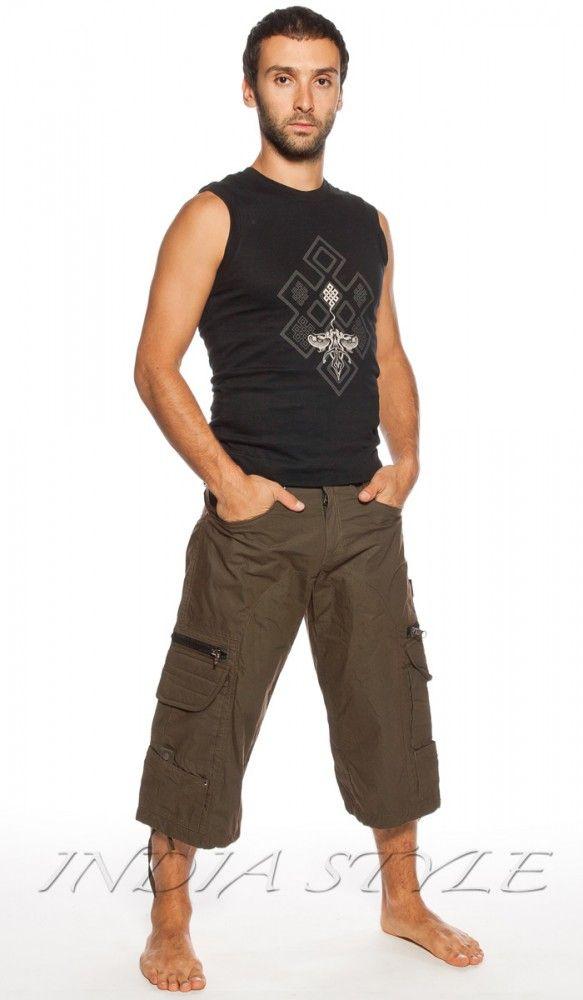 Indian Project, удлиненные шорты с карманами, миллитари шорты, мужские шорты, man`s short, many pocket, khaki, military style. 4280 Рублей