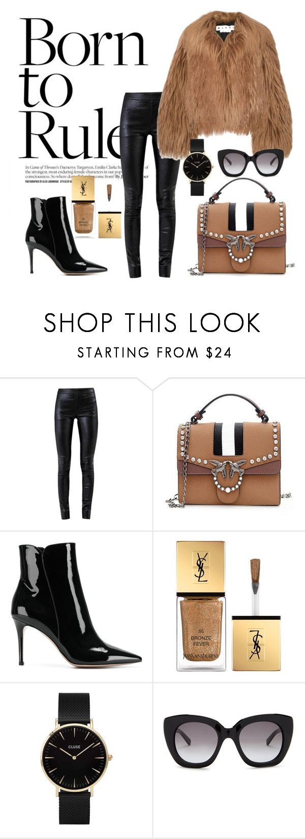 """""""Born to Rule"""" by elinacee on Polyvore featuring Helmut Lang, Marni, Gianvito Rossi, Yves Saint Laurent, CLUSE and Kate Spade"""