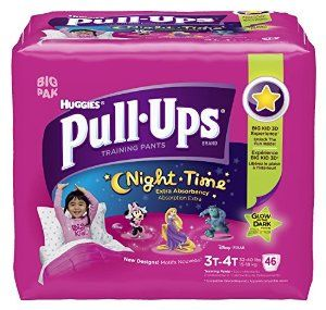 Huggies Pull-Ups Night-time Training Pants, Size 3T - 4T, Girl, 46 Count (Pack of 2) -   - http://babyentry.com/baby/potty-training/training-pants/huggies-pullups-nighttime-training-pants-size-3t-4t-girl-46-count-pack-of-2-com/