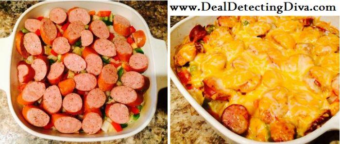 sausage and potato bake sausage potatoes sausage and peppers casserole ...