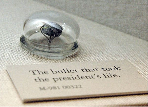 The bullet that killed Abraham Lincoln is mounted under glass, like a diamond in a snow globe, in its new home at the National Museum of Health and Medicine.    The lead ball and several skull fragments from the 16th president are in a tall, antique case overlooking a Civil War exhibit in a museum gallery in Silver Spring
