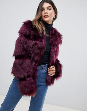 64048b61e738 Urbancode Short Coat in Faux Fur Mix | What best to wear when out ...