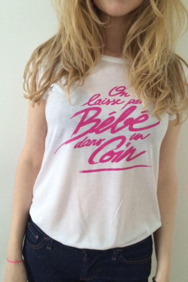 T shirt on laisse pas b b dans un coin odette et lulu - Coin bebe dans chambre parentale ...