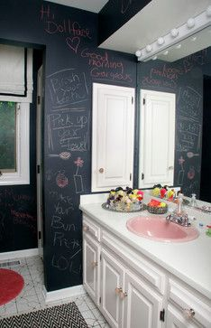 Teen Room   Eclectic   Bathroom   Chicago   Michelle Williams Interiors I  Like The Chalkboard Wall :) Part 45