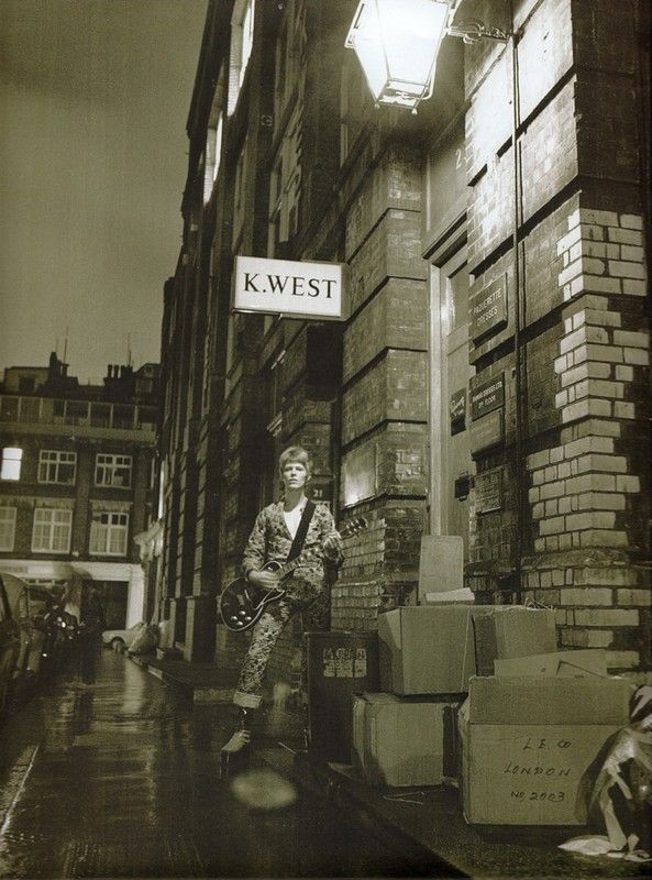 Ziggy Stardust Album Cover out-take, by Brian Ward London 1972