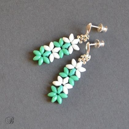 Easy superduo earring. I'd rather prefer other colour combo, but it's a nice idea