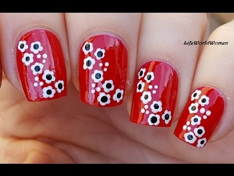25 trending toothpick nail art ideas on pinterest diy nails toothpick nail art 21 red nails with white flowers prinsesfo Gallery
