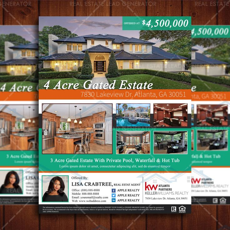 14 best images about real estate flyers on pinterest for Real estate listing brochure template