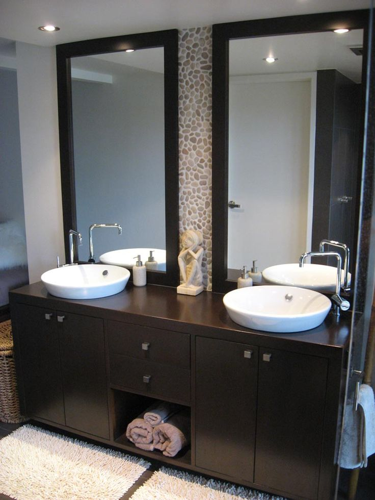Photo Gallery On Website Black White Bathroom Double Vanity Tips