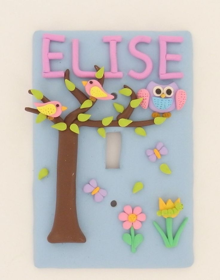 Original Sculpey Girly Switch Plate Cover