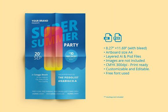 Summer Fest Flyer/ Poster 02 by ihsankl on @creativemarket