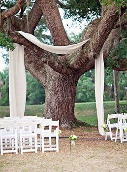 pinterest decorating ideas | Draped Fabric Ceremony Decoration via Pinterest