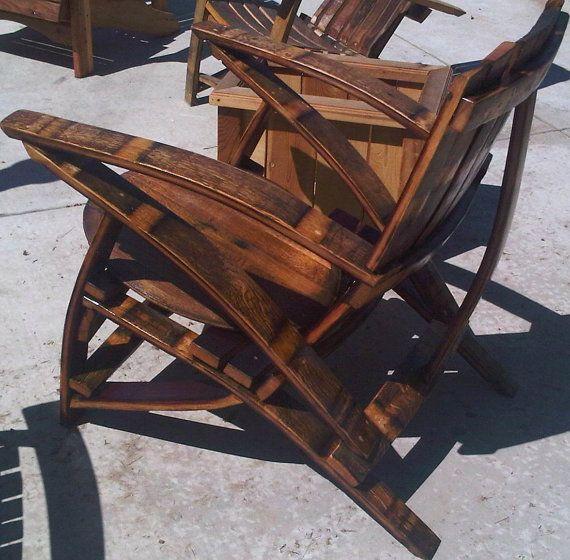 Wine barrel adirondack chair plans free woodworking for Wine barrel chair diy