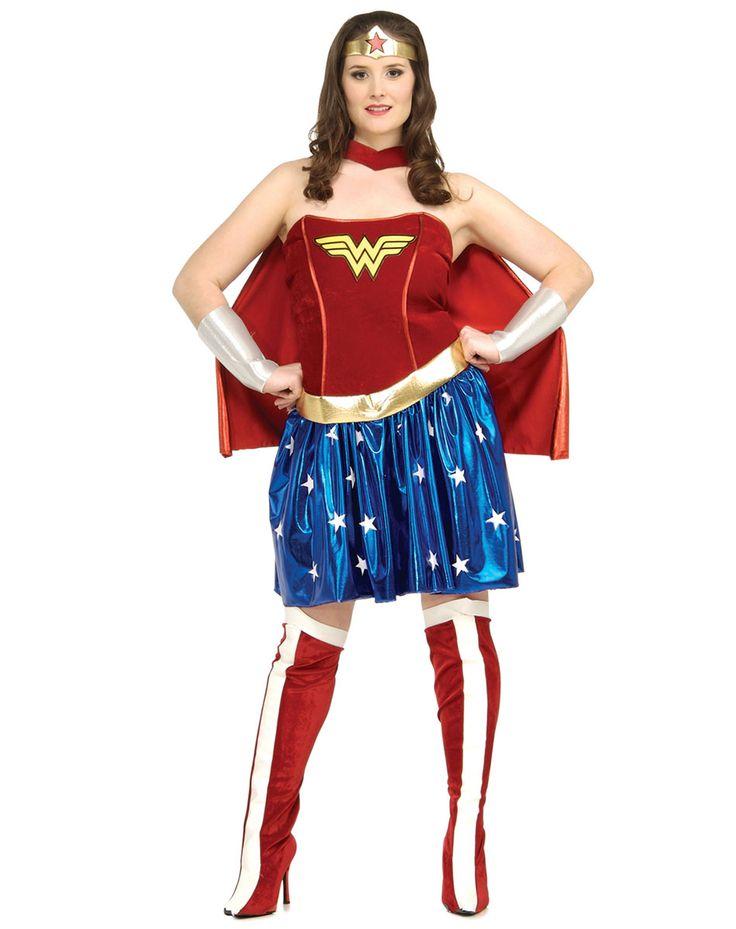 wonder woman adult womens plus size costume spirit halloween - Size 18 Halloween Costumes