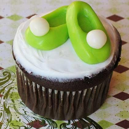 Tinkerbell slipper cupcake toppers