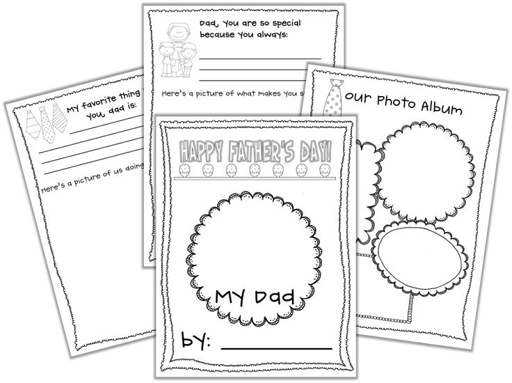 Father's Day activities: FREE Father's Day writing prompt booklet