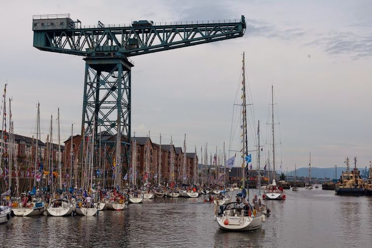 Commonwealth Flotilla on pontoon morings on the Clyde