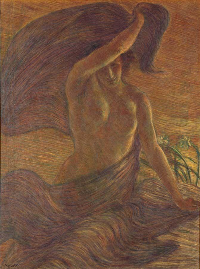 Gaetano Previati - Il vento - 1908 - Gardone Riviera, Fondazione Il Vittoriale degli Italiani