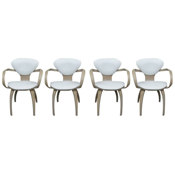 set of four 4 vintage plycraft armchairs by norman cherner