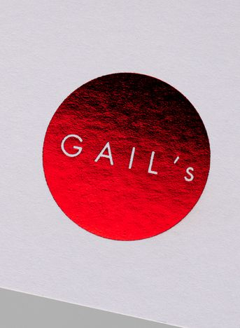 Red foil print by here design.co.uk