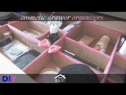 DIY |  Cosmetic Drawer Organizers | Makeup Organization Idea http://cosmetics-reviews.ru/2017/12/01/diy-cosmetic-drawer-organizers-makeup-organization-idea/