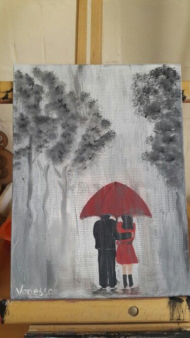 """A4 painting on canvas.... """"I'll walk with you no matter the weather"""""""