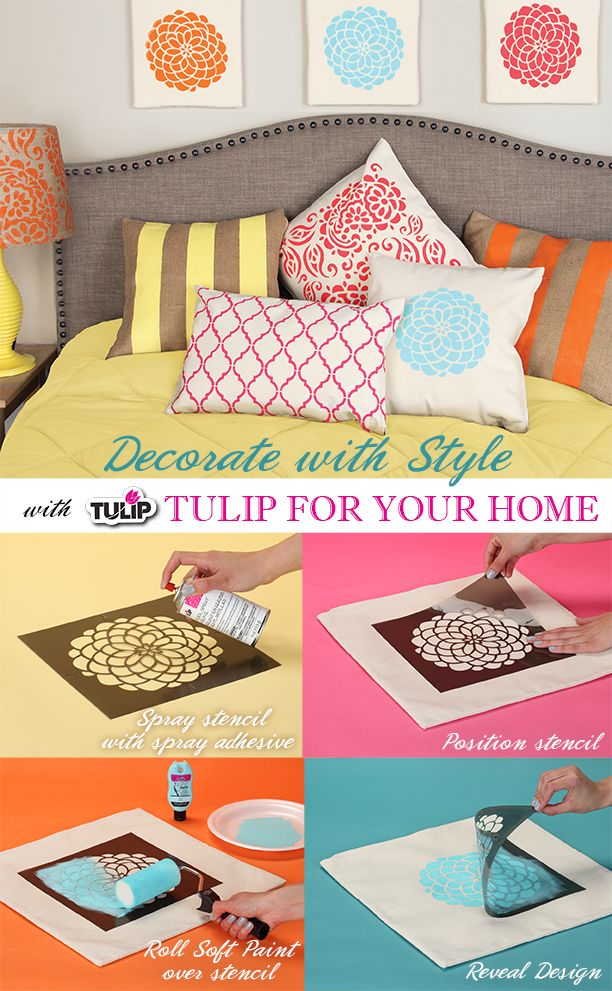Get clean, crisp results without any yucky residue left behind with Tulip Stencil Spray Adhesive!