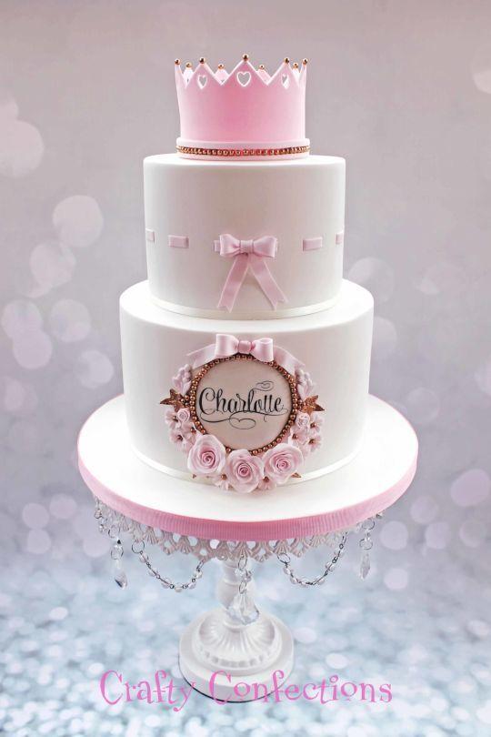 Princess Christening cake - Cake by Kelly Cope - CakesDecor