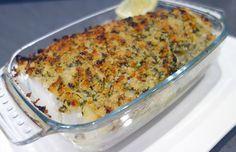 Le poisson à la bordelaise est parfumé et super rapide à faire. La croûte est composée de chapelure, d'ail et d'échalotes fondus au vin blanc et de persil.