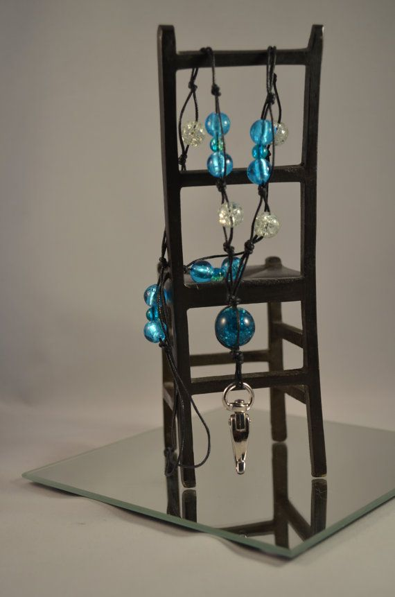 Glass bead lanyards keynecklace keychain/ Lasihelmi avainnauhakaulakoru avainnauha