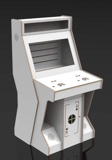 This 2 Player Pedstal Arcade Cabinet, designed by Arcadeworx, has been professionally cut from our industrial CNC machine giving you the freedom to assemble and tailor your own modern pedestal style arcade cabinet. Machine is flat packed and includes all fasteners for re-assembly. The unit assembles like Ikea furniture with screw in dowels and eccentric cams and each hinged door comes with its own cam lock. All assembly instructions to re-build the machine are provided. Pedestal is at a…