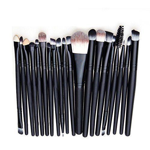 20pcs Professionnel 20pcs Maquillage Kit Pinceaux pour Fondation Fard A Paupieres Eyeliner Lip Maquillage Brushes Brosse Set