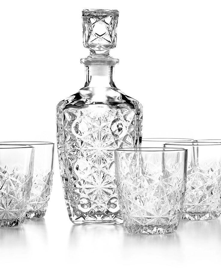 Bormioli Rocco Barware, Dedalo 7-Pc. Whiskey Set - Bar & Wine Accessories - Dining & Entertaining - Macy's