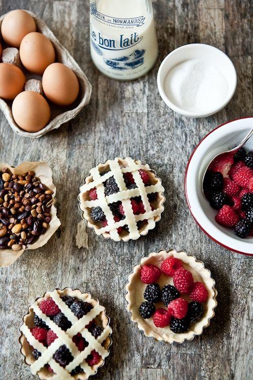 Fresh Berries Tartelettes - the making of. Helene Dujardin, photographer. #photography #food #styling