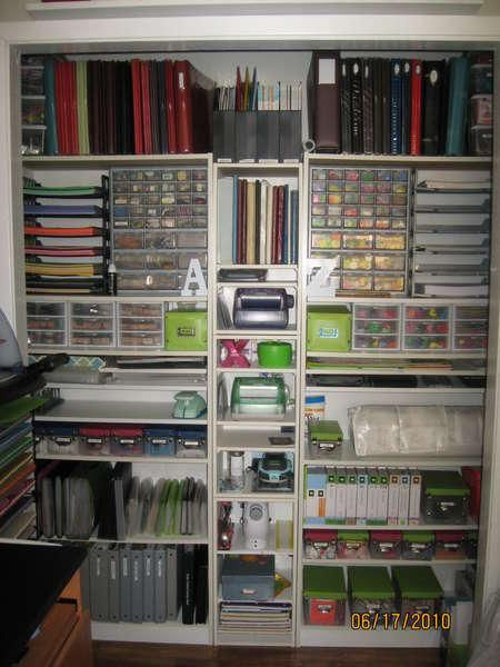 "Craft Closet Organization Don""t think I would ever get there but I can dream........."
