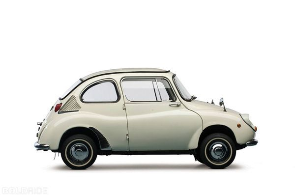 The makers of Subaru, Fuji Heavy Industries, was incorporated in 1953. Although they had been building scooters since the 1940s, it wasn't until 1958 that they introduced their first car, the diminutive Subaru 360. ADORABLE!