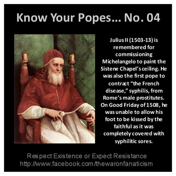 Know your popes: Julius II https://www.facebook.com/thewaronfanaticism #popes #atheism