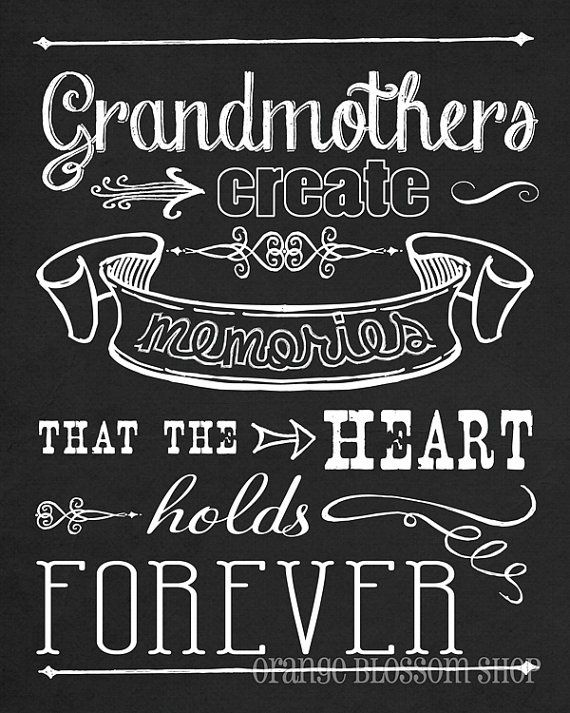 Super cute chalkboard art and quote! - To my Wonderful Grandma. I Love You, Grandma, and the memories we've made will forever be in my heart!! I would love to come see you!!! ;) ;*