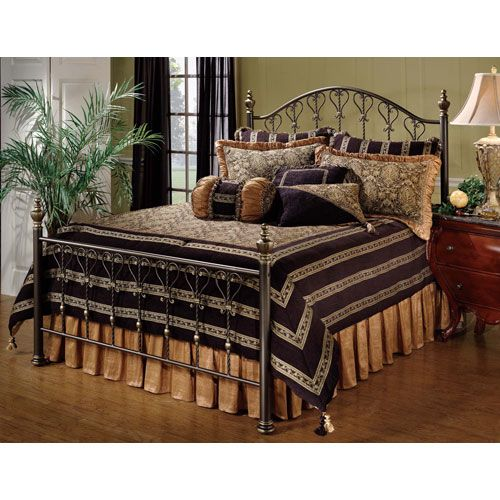 hillsdale furniture huntley dusty bronze queen complete bed